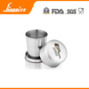 150ml mini mirror finish with laser marking stainless steel collapsible cup