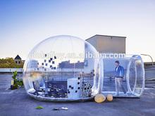 Clara de grama inflável barraca/bolha tenda/inflável tenda do gramado