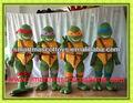 venta caliente de alta calidad de las tortugas ninja traje de la mascota de adolescentes ninja traje de tortuga