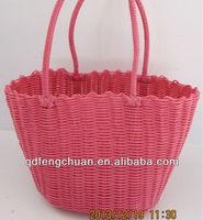 Low cost handmade PP, PE, PVC weave handbag