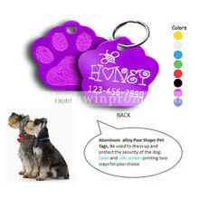 Wholesale Customized Paw Shape Pet Id Tags