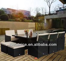 Rattan Outdoor Garden Furniture Patio Set Cube Sofa Weave Wicker Dining Set