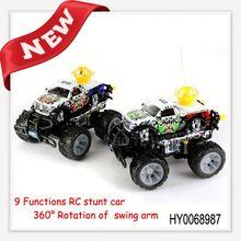 7ch rotation stunt dance music flashlight rc car building toys for boys HY0068987