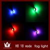 RGB 18 Mode Color Change Car LED Fog Lamp Automobile Light Bulbs Wedge High power 2 Chip 9005/9006/880/881/H3/H8 LED Lamp