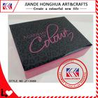 fashion leopard custom jewelry box as girl's Christmas gift