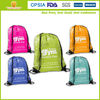 2014 good quality full color printing polyester drawstring bag