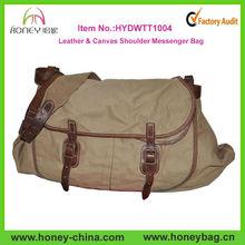 High Quality Men's Stylish Long Strap Durable Canvas Messenger Bag Factory