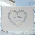 W1140 la forma del corazón corte láser z- veces invitación de la boda