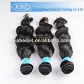 klb natural virgen brasileño al por mayor remy del pelo