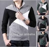 2014 fashion polo long sleeve t shirt for men