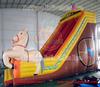 hot sale inflatable double lane slip slide/inflatable dry slide