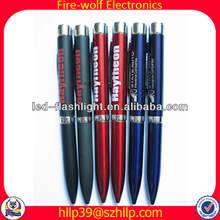 Led logo projection pen,led flashing ball pen,pen with led torch factory