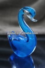 elegant novelty sapphire coloured glaze liuli swan wedding giveaway gift