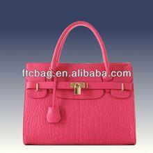 Brand Fashion Plain leather tote bag
