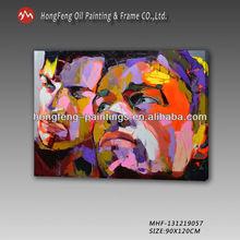 Newest Modern Abstract Knife Portrait Man On Canvas Art
