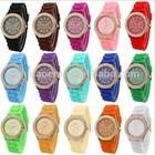 2015 New Product luxury women Fashion Lady brand GENEVA rose gold Diamond quartz Silicone Jelly watch for women dress watch