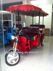 Factory Outlet 2014 Electric Rickshaw/ tuk tuk/ bajaj/ Passenger Tricycle for Sale