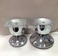 Mobilier en fer pièces tasse lanterne en métal chromé jambe canapé yj-827
