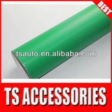 TSAUTOP RoHS certificate 1.52*30m air Free bubbles dark green 3d film carbon fiber epoxy