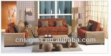 2014 Antique Outdoor 5pc Rattan Sofa Set luxury living room sofa
