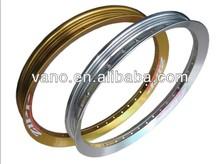 V profile 36 holes 2.15 gold and gray colors motorcycle spoke aluminum wheel