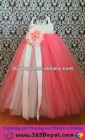 Hot Sale Latest Dress Designs For Flower Girls Puffy Sexy Pink Prom Girls Dress