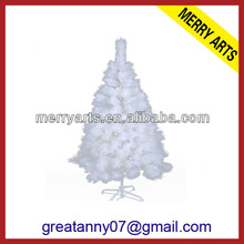 2012 artificial white 5 feet pvc christmas tree with the plastic stand