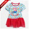 7524 Baby Peppa Pig Clothing Fashion Kids Clothes Cute Print Cartoon Girl's Summer Dresses