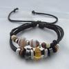 New Handmade Glass Beads Leather braid Bracelet 2014