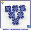 hot venda de quatro folhas forma de flor de vidro azul gemstone