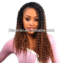 Hot Sale New Fashion Kanekalon Jamaican curly wig for black women