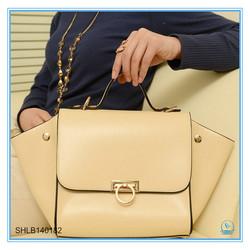 New Fashion Elegant Woman Handbag Genuine Leather Bat Lady Office Bag
