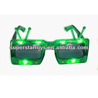 flashing party glasses, light up LED party glasses 10LED TV funky glasses