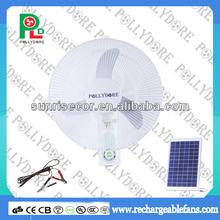 Solar DC Wall Fan with Oscillating