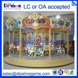 Fairground amusement park ride carousel horses for sale DP-016 carousel