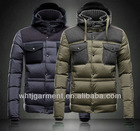 2014 fashion 2 colors slim fit designer goose down coats men cheap china new out door down coat