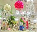 Großhandel kristall blumenständer zentrum tabellen, dekorative hochzeit kristall wasserfall mh-1554 mittelstücke