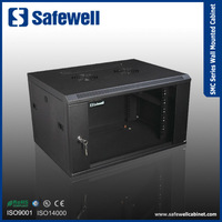 SMC6406 Safewell SMC Series Single Section 600 Width 450 Depth Color Black 6U Wall Mounted Cabinet
