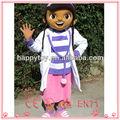Hola divertida para adultos de dibujos animados doc mcstuffins traje de la mascota, divertido traje de la mascota