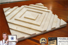 CNC 3D wall cladding stone decoration italian marble prices for interior wall design