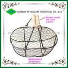 Wholesale metal wire mesh basket with handles