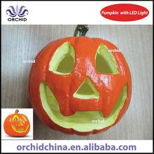 15cm Foam Halloween Pumpkin with Three Colour LED lights