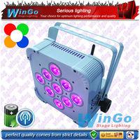 dj lighting / RGBWA+UV wireless DMX battery powered led wedding light/factory experience high power auto uplight