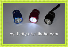 Betty hot selling aluminium square 6 LEDs promotional flashlight