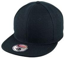 Plain Flat Fitted Baseball Cap - Black