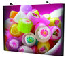 Display system backdrop Superior Magnetic Pop Up System with Curve & Straight - 3x4 / 3x3/ 3x2