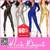Wholesale hollow out ladies leather sexy cheap latex catsuit