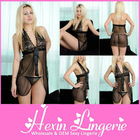 Transparent V-shaped dress sexy girls lovely baby doll