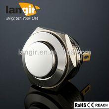 China 16mm 2 pin self lock push button switch