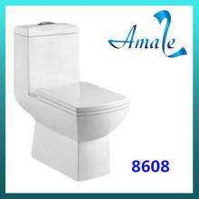 Bathroom ceramic washdown S-trap 250mm one piece toilet